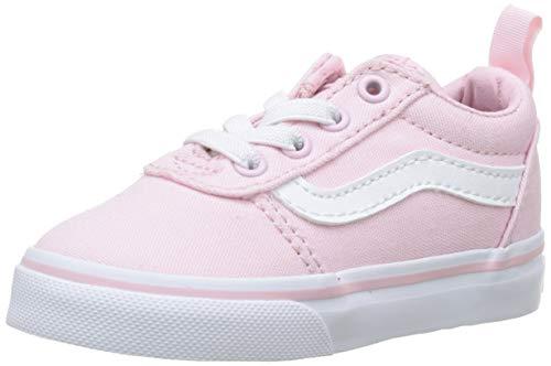 Vans Ward Slip-on, Sneaker Unisex-Bimbi, Rosa ((Canvas) Chalk Pink Vuz), 21 EU