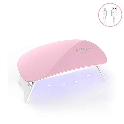 SUNUV SUNmini 6W UV Lampade LED per Gel Unghie, Asciuga Smalto Semipermanente, Asciuga Unghie, Mini...