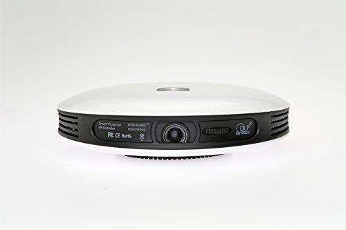Smart Projector NT83 (Beamer mit AKKU   4K FullHD 3D fähig   DLP   LED   300 Zoll   interner 32GB Speicher   Betriebssystem   WLAN   Bluetooth   HDMI   USB   Lautsprecher   portabel   tragbar