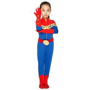 werty Cosplay Ropa Capitán Marvel Cosplay The Avengers Hero Clothing Impresión Digital En 3D Tight Halloween Halloween Disfraces A-XXL