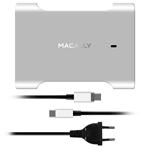 Macally CHARGER61 Interno Alluminio, Nero caricabatterie per cellulari e PDA