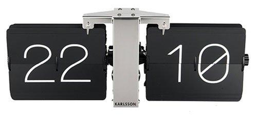 Karlsson KA5601BK, Orologio da Parete, Senza Cassa, in Metallo, Nero, 8,5 x 36 x 14 cm, rotondo