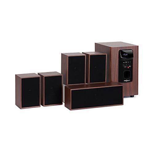 OneConcept Woodpecker • Sistema Audio 5.1 • Sistema Audio Home Cinema • 45 W RMS • Bluetooth...