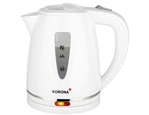 Korona 20116 Wasserkocher mit 1 Liter Fassungvermögen in weiß, Kunststoff,