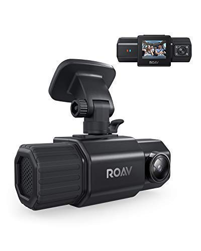 Anker Roav DashCam Duo, Dual FHD 1080p Dash Cam, Front and Interior Wide Angle Cameras, for Uber and Lyft, Supercapacitor, IR Night Vision, Dual Sony Sensors, GPS, Motion Detection (No Wi-Fi, No App)