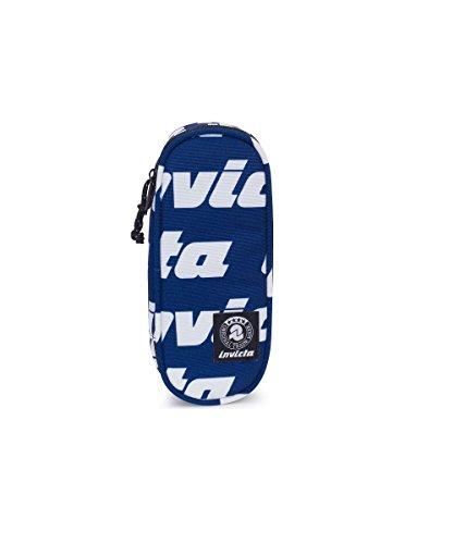 Portapenne INVICTA - LIP PENCIL BAG - Lettering Blu - porta penne scomparto interno attrezzato