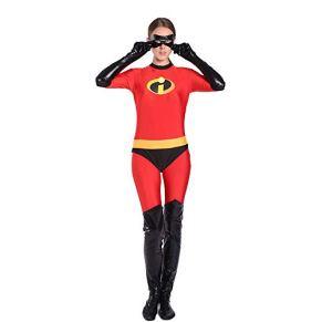 BGHKFF Incredibles Disfraz Cosplay NiñO Adulto Ropa Vestido Superhéroe Halloween Navidad Celebracion Traje Fiesta De Baile Medias Siamesas,Kids-M