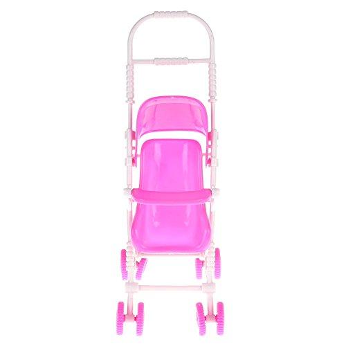 Domybest Mini Giocattolo di Passeggino per Bambole Giocattolo Carino di Plastica per Bambine