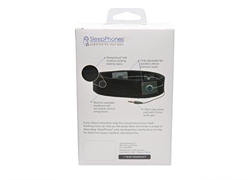 AcousticSheep souple, FIN sleepp Smartphones Classic Breeze Polyester-Bandeau avec écouteurs intégrés pour Smartphone et Tablette 30