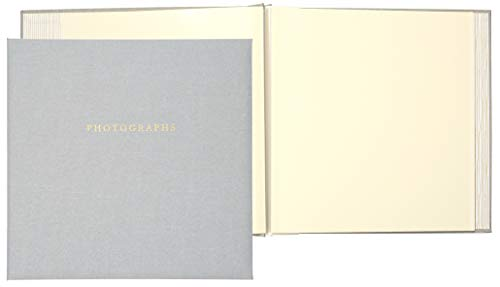"""C.R. Gibson Gray""""Photographs"""" 1-Up Magnetic Memory Book and Photo Album, 16 Pages, 13.6"""" W x 13"""" H"""