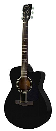Yamaha FS-100C, 6-String Acoustic Steel Guitar, Right Handed, Black, without Case