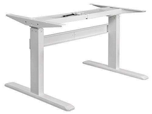 Exeta Elektrisch höhenverstellbarer Schreibtisch (Vers. 2019) mit 2 Motoren, 3-fach-Teleskop,Memory-Funkt. und Softstart/-Stopp, elektrisch höhenverstellbares Tischgestell - für gängige Tischplatten