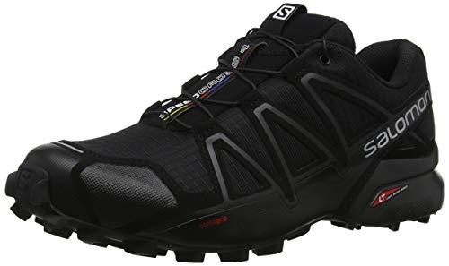 Salomon Speedcross 4, Zapatillas de Running para Hombre, Negro (Black Metallic), 43 1/3 EU
