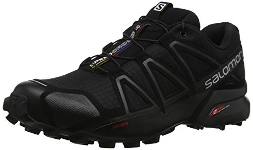 Salomon Speedcross 4 Scarpe da Trail Running Uomo, Nero (Black Metallic) 45 1/3 EU