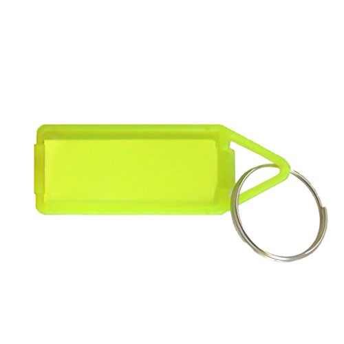 Jeval 50 pcs Assorted Double Sided Key Chain TAG Label Locking Multi Color