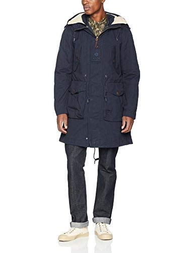 Pretty Green Grosvenor Parka Cappotto, Blue (Navy), XX-Large Uomo