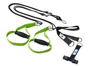BodyCROSS Premium Schlingentrainer mit Türanker und Zertifikat (InBuB-Siegel)   Sling Trainer Set inkl. Übungsposter, Trainingsplan, Befestigung   abnehmbare Griffe   Made in Germany   (LIM o Spacer)