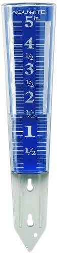 AcuRite 00850A2 5-Inch Capacity Easy-Read Magnifying Rain Gauge