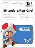Nintendo Eshop Card 15€ Carte de Jeu Console Compatible:Compatible Multi Plateformes