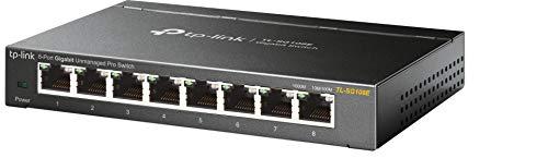 TP-Link TL-SG108E Switch, 8 Porte RJ45 Gigabit 10/100/1000 Mbps, Monitora la Rete, Priorizza il...