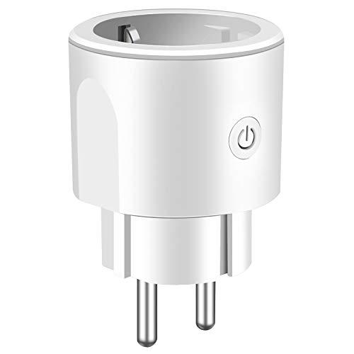 Enchufe Inteligente RATEL 16A Control remoto WiFi Smart Plug Compatible con Alexa/Google Home/IFTTT Mini Toma de corriente inalámbrica para iOS Aplicación de Android