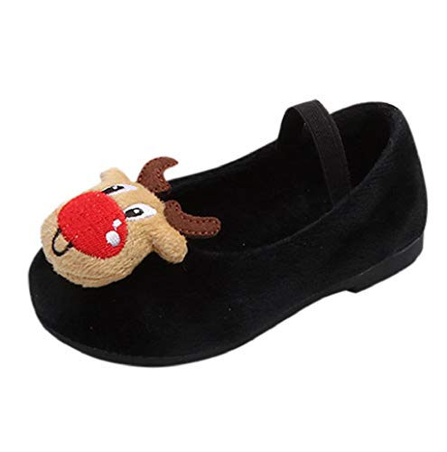 Boomboom Baby'Shoes Little Kid/Big Kid Mary Jane Tap Shoe Suede Soft Sole Bow Anti-Slip Pineapple Sweet Princess Shoes D-Black