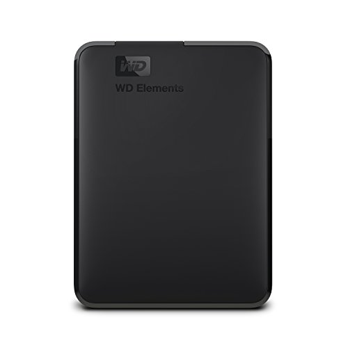 WD Elements - Disco duro externo portátil de 4 TB con USB 3.0, color negro