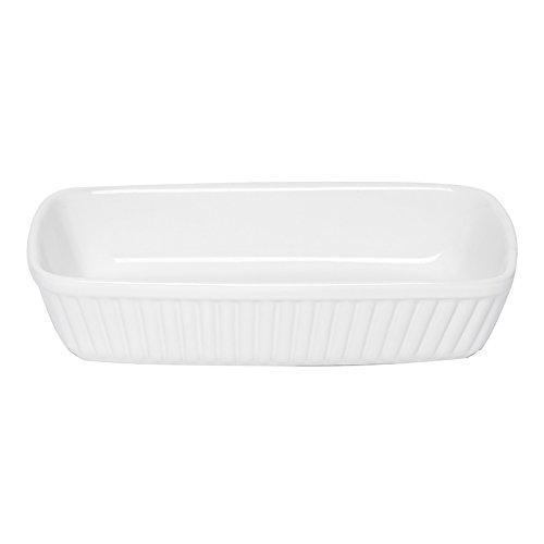 Excelsa Grande Forno Pirofila Rettangolare Ceramica, Bianco, 31.0 x 25.0 cm