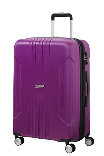 American Tourister Tracklite - Spinner Medium Expandable Bagaglio a mano, 67 cm, 82 liters, Viola...
