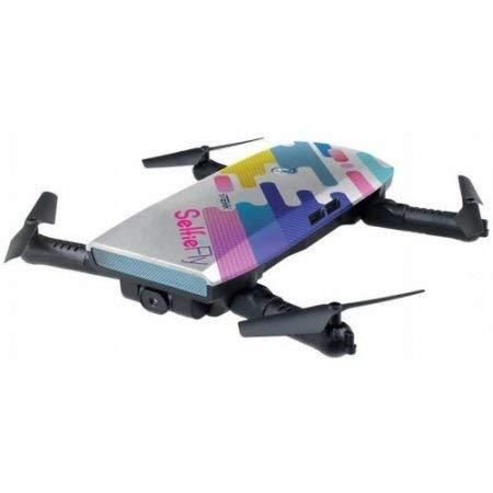 tekk Selfie & Fly 4rotori Quadrirotore 2MP 1280 x 720Pixel 500mAh Multicolore Drone Fotocamera