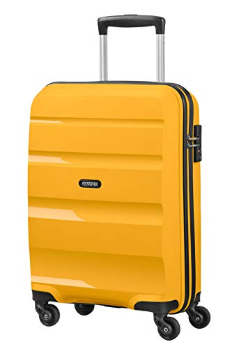 American Tourister Bon Air - Spinner Small Strict Bagage cabine, 55 cm, 31.5 liters, Jaune (Light Yellow)