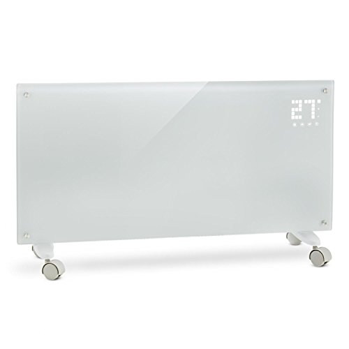 Klarstein Bornholm - Riscaldamento elettrico, Radiatore in vetro a convezione, 2000 W, Display,...