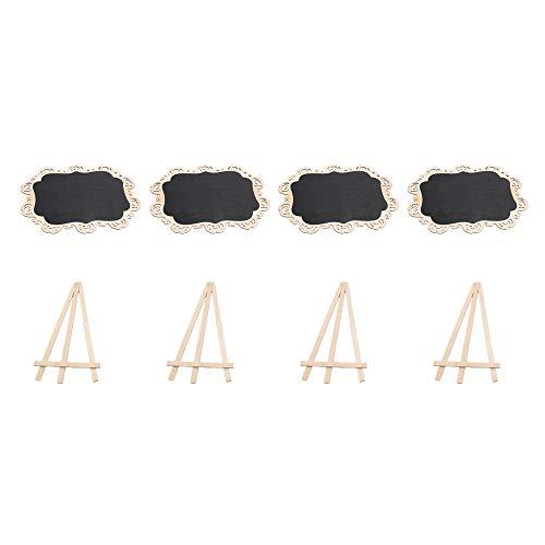 Bqlzr 20x 30cm Log color nero e legno mini lavagna con cavalletto di sostegno per festa di nozze...