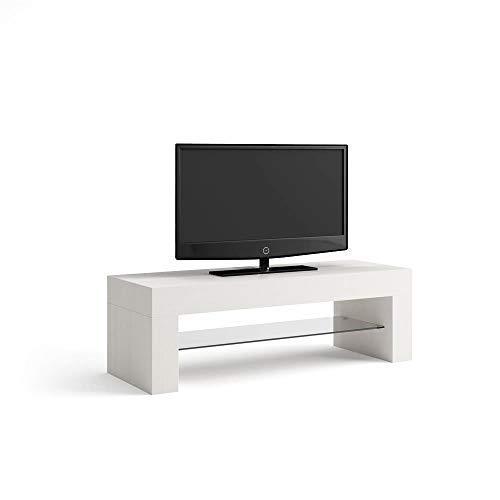 Mobili Fiver Evo Mobile Porta TV, Legno, Bianco Frassino, 112x40x36 cm