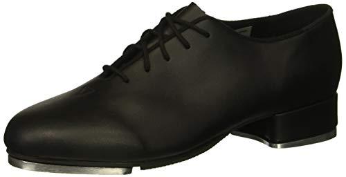 Leo Women's Jazz TAP Dance Shoe, Black, 8.5 Medium US