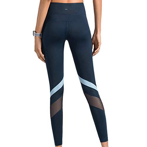 Zcx Collant & Leggings, 90 Degree By Reflex - Shapewear di Controllo della Pancia A Vita Alta (Color : Sapphire Blue, Size : L)