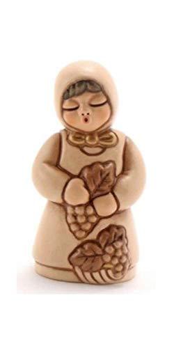 THUN - Donna Vendemmiatrice con Uva - Versione Rossa - Statuine Presepe Classico - Ceramica - I Classici