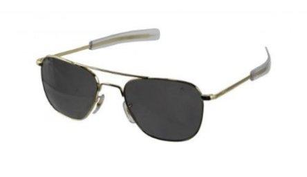 American-Optical-Eyewear-Original-Pilot-Gafas-de-sol-con-montura-dorada-de-55-mm-con-varillas-tipo-bayoneta-y-cristales-de-color-verde