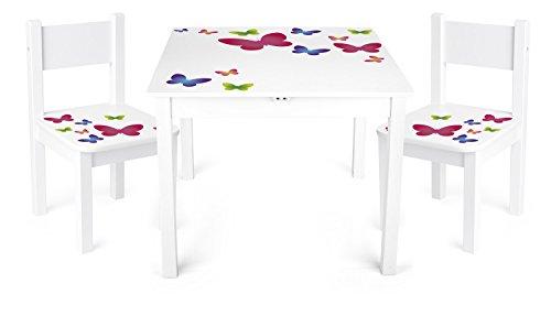 Tavolino Sedie Set Cameretta Per Bambini Tavolo e 2 Sedie In Legno Lettura Gioco Di Gruppo In Classe...