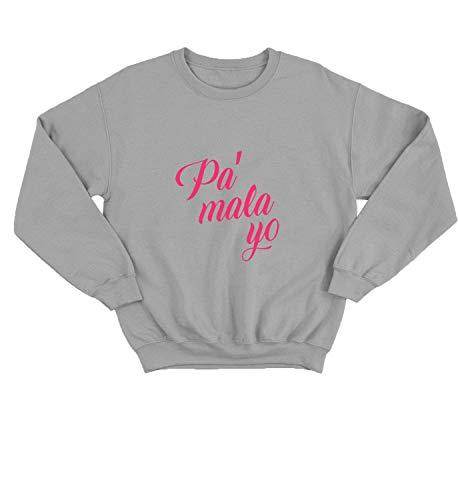 Pa Mala Yo_000680 Pullover Unisex SM Black Crewneck Sweater Sweatshirt