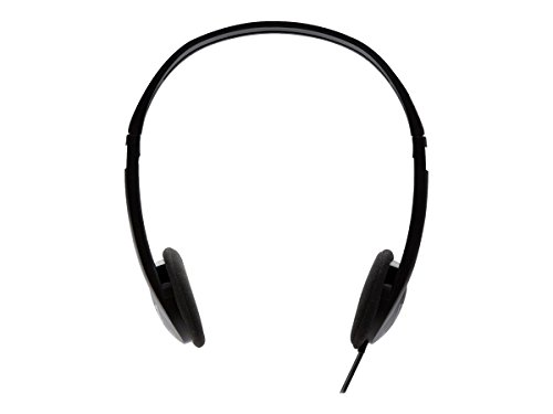 V7 3.5mm Stereo Headphones for Multimedia, Music Streaming, on Tablets, PC, Notebooks (HA300-2NP) - Black