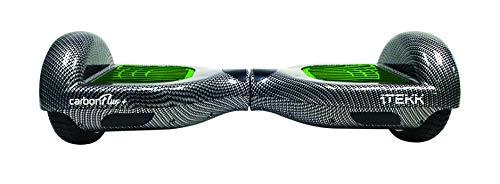 Itekk Hoverboard 6.5'' Carbon Fluo Plus, Assicurazione AXA 'Tutela Famiglia' inclusa, Verde