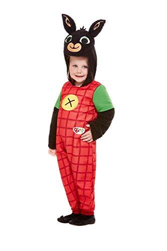 SMIFFYS 50183T1 - Costume da Bing Deluxe, unisex, per bambini, colore rosso, età 1-2 anni