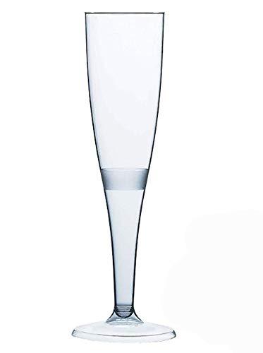 20 Pezzi - Flute Bicchieri da Champagne di Alta Qualità - 160 ml (6oz.)