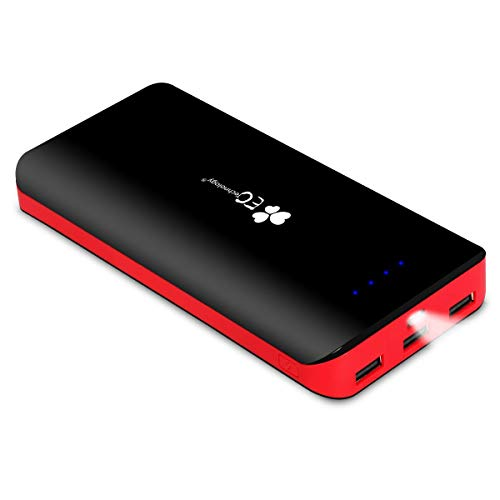 EC TECHNOLOGY Batterie Externe 22400mAh Power Bank Ultra Haute Capacité 3 Ports USB Auto IC Sortie...