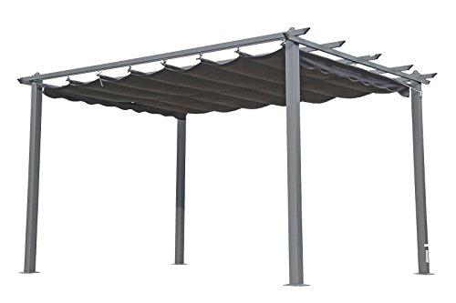 OUTFLEXX Pergola, Gartenpergola in anthrazit, Garten-Pavillon aus Aluminium Alu, hochwertige...