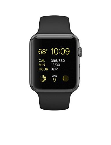 Apple 42mm Smart Watch - Space Grey Aluminum Case/Black Band