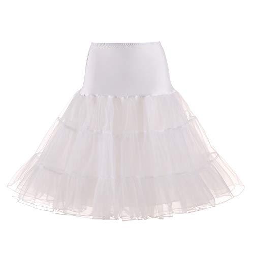 Lazzboy Donna tutù Gonna Tulle Organza A-Line Petticoat Balletto Danza Layred Taglia...