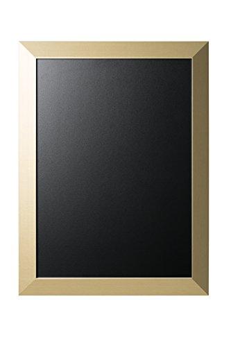 Bi-Office Lavagna Nera Per Gesso Kamashi Glam, Cornice MDF Oro, 60 x 45 cm
