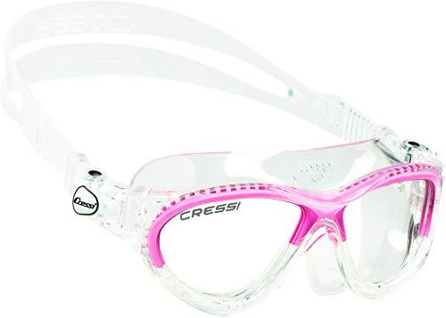 Cressi Cobra Kid, Occhialini per Il Nuoto, Ottimi per Piscina e Snorkeling Bambina, Trasparente/Rosa
